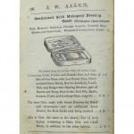 Gentleman's Solid Mahogany Dressing Case by Allen