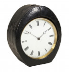 Drum Clock By Pierret in leather Travel Case
