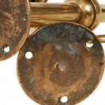 Pair of William Tonks Fixed Brass Candelabra
