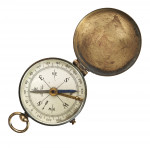 Brass Compass with Folding Cover