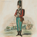 Watercolour of the Uniform of the 87th Regiment in 1793