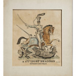 Hand Coloured Engraving of a 17th Light Dragoon by D. Ash