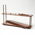 Set of Teak and Brass Campaign Shelves