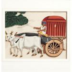 Purdah Bullock Cart Painted on Mica - HEIC