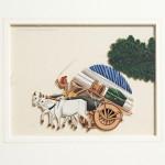 Heavily Laden Bullock Cart Painting - HEIC