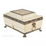 A Vizagapatam Sarcophagus Sewing Box