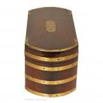 Brass Bound Tea Caddy