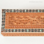 Anglo Indian Carved and Inlaid Pen Box
