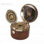 Large Leather Travel Inkwell