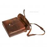 Military Leather Shoulder Bag