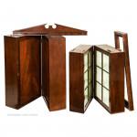 Portable Mahogany Campaign Bookcase