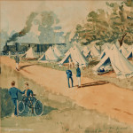 RMA Woolwich Encampment Watercolour by J.C. Walford