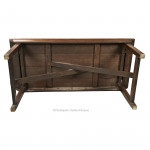Oak Campaign Trestle or Refectory Table