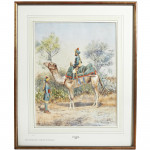 Watercolour Painting of Poona Horse by A.A. Mander