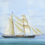 Neapolitan Painting of a Yacht
