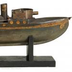 Folk Art Toy Battleship
