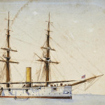 Painting of HMS Dragon, a Royal Navy Doterel-Class Screw Sloop