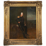 Oil on Canvas Portrait Of Captain Follett Pennell