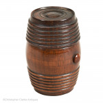 Treen Barrel Inkwell