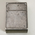 Metal Ransome Patent Travel Inkwell by De La Rue