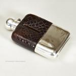 Small Crocodile Hip Flask by Z. Barraclough & Sons, Leeds