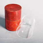 Red Leather Cased Drinking Glass