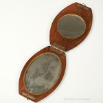 Oval Campaign Double Mirror