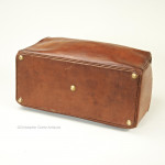Square Mouthed Leather Kit Bag