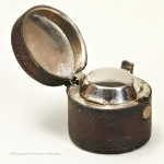 Leather travelling inkwell