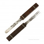 Rosewood Wragg Patent Travel Cutlery
