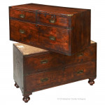 Mahogany Campaign Chest by Allen