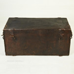 French Leather Hide Trunk