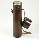 Pair of Cased John Pound Flasks