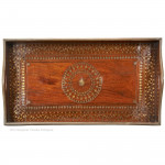 Anglo Indian Brass Inlaid Tray