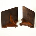 Pair of Small Walnut Bracket Shelves