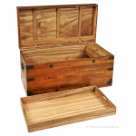 Camphor Wood Trunk with tray