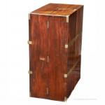 Brass Bound Antique Campaign Book Cabinet