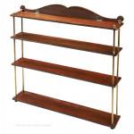 Four Tier Brass and mahogany Campaign Shelves