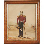 Watercolour Portrait of An Army Officer