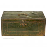 Green Leather Despatch Box by Seabrook