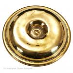 Pressed Brass Brighton Bun  Candlesticks