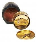 Pierret Drum Clock in leather Travel Case