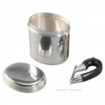 Silver Travel Cup With Lid