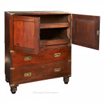 Campaign Chest with Linen Press Top