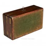 Brass Bound Mahogany Jewellery Box