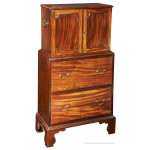 Georgian Collectors Cabinet on Chest