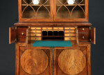 A Hepplewhite period mahogany secretaire bookcase