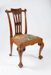 A pair of Irish George II walnut side chairs
