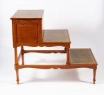 A pair of George III satinwood and painted bedsteps, attributed to Seddon, Sons & Shackleton