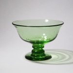 A collection of green glass